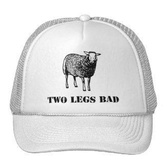 Dois carneiros do mau dos pés bonés
