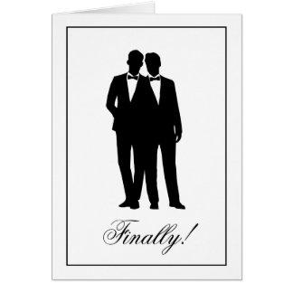 Dois cartões de nota dos parabéns das silhuetas
