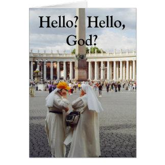 Dois cartões do deus da conversa 2 das freiras
