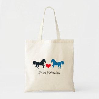 Dois cavalos no bolsa do amor