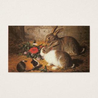 Dois coelhos e uma cobaia cartão de visitas