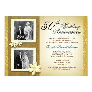 dois convites do aniversário de casamento das