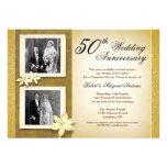 dois convites do aniversário de casamento das foto