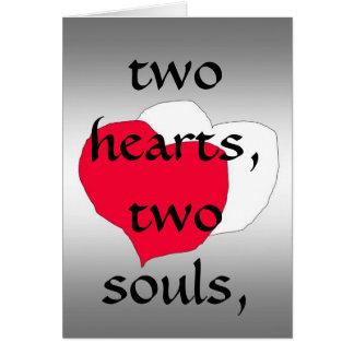 Dois corações cartão