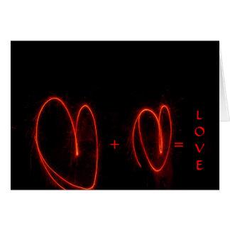 Dois corações = cartões do amor