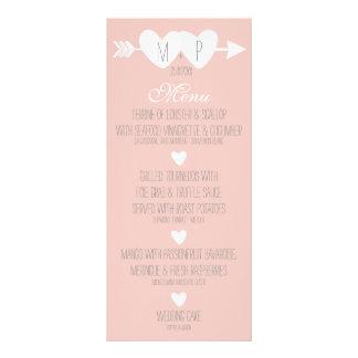 Dois corações que Wedding o cartão da cremalheira 10.16 X 22.86cm Panfleto