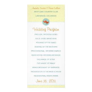 Dois corações que Wedding programas Panfletos Informativos Personalizados