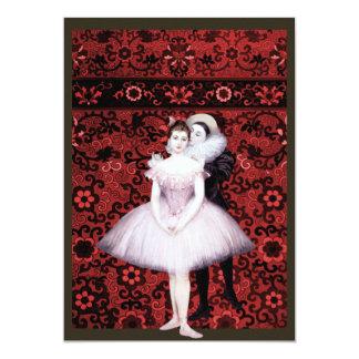 Dois dançarinos convites personalizado