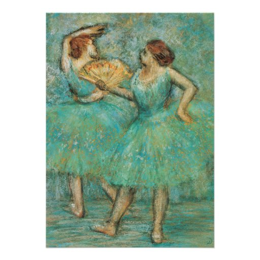 Dois dançarinos por Edgar Degas Convite Personalizado