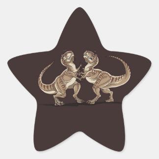 Dois dinossauros que lutam-se ilustração adesito estrela