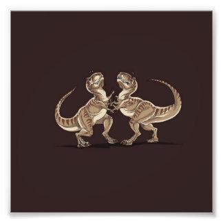 Dois dinossauros que lutam-se ilustração impressão de foto