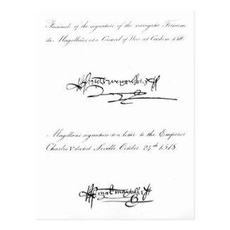 Dois exemplos da assinatura cartão postal