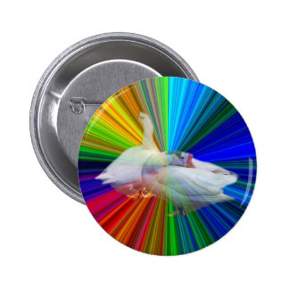 dois gansos brancos no fundo muito extravagante boton