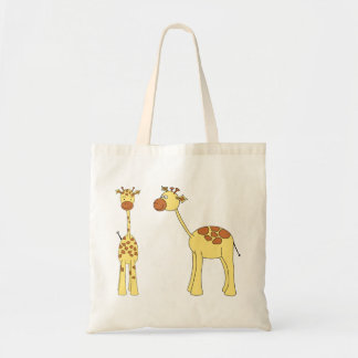 Dois girafas. Desenhos animados Bolsa