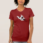 Dois guindastes de voo tshirts