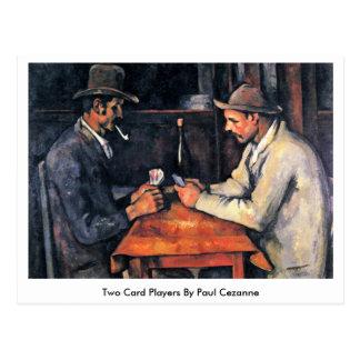 Dois jogadores de cartão por Paul Cezanne