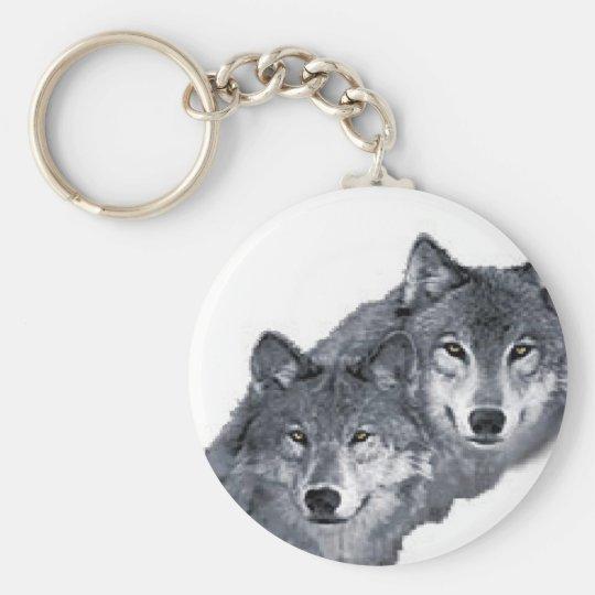 Dois Lobos Bonitos Em Um Chaveiro Zazzlecombr