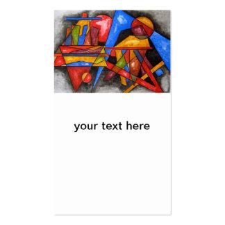 Dois navios - cartões de visitas da arte abstracta