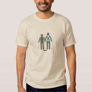 Dois pais e um filho t-shirt