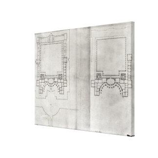 Dois planos para o primeiro projeto para o Louvre Impressão Em Tela