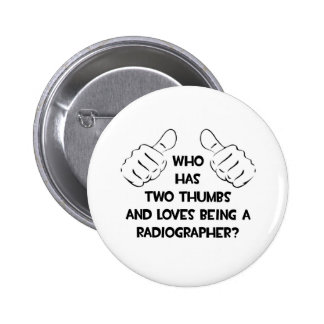 Dois polegares. Técnico de radiologia Bóton Redondo 5.08cm