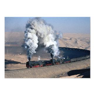 Dois QJs na borda do deserto de Gobi, China Convite 12.7 X 17.78cm