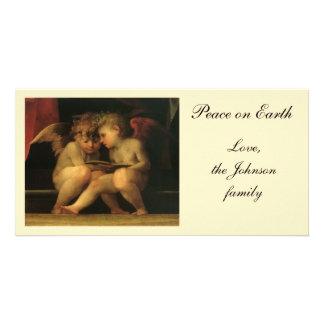 Dois querubins que lêem por Rosso Fiorentino Cartão Com Foto