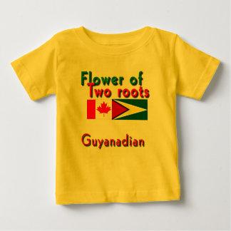 dois t-shirt guyananese-canadenses do bebê das