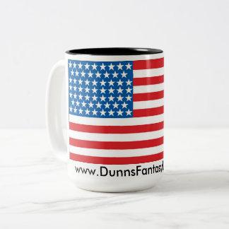 Dois tonificaram a caneca de café 15oz patriótica