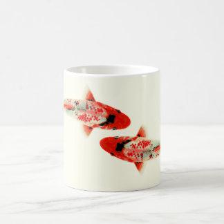Dois vermelho Koi Caneca De Café