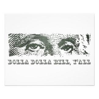 Dólar segunda-feira de Dolla Dolla Bill Yall Georg Panfletos Personalizado