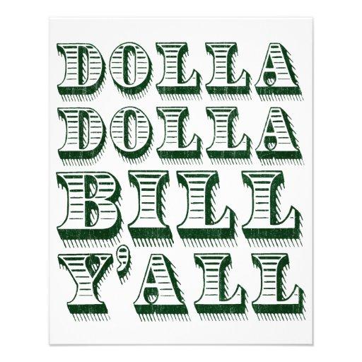 Dólares do dinheiro do dinheiro de Dolla Dolla Bil Panfleto Coloridos