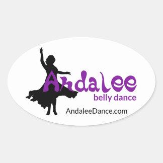 Dom da dança do ventre de Andalee Adesivo Oval