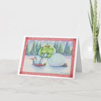 Dom do escandinavo do cartão de Natal do boneco de