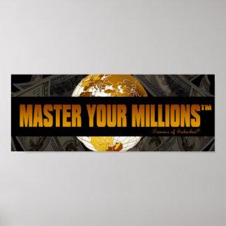 Domine seu poster do papel do valor de milhões