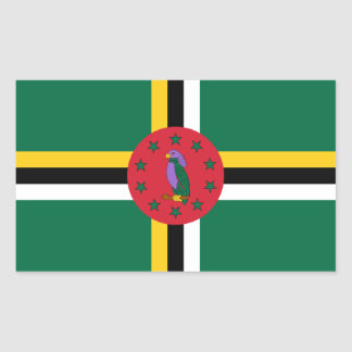 Dominica/bandeira dominiquense adesivo retangular