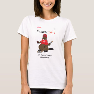 Domínio do hóquei do castor de Canadá 150 em 2017 Camiseta