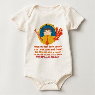 domínio ou bacon macacãozinho para bebês