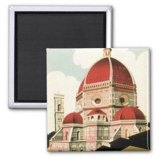 Domo da igreja de Florença Firenze Italia das Ímã Quadrado