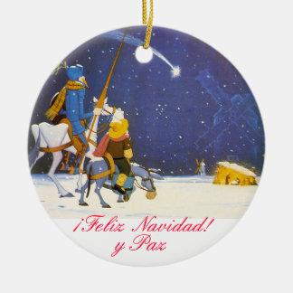 DON QUIXOTE - Adorno de Navidad Ornamento De Cerâmica Redondo