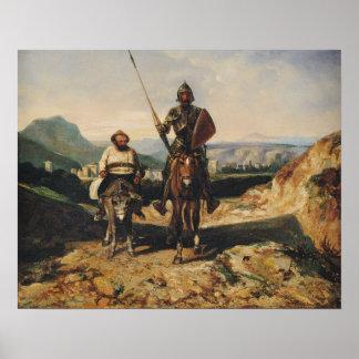 Don Quixote e Sancho Posters