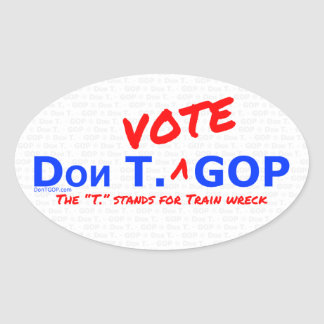 Don T. Voto GOP - etiqueta com BG