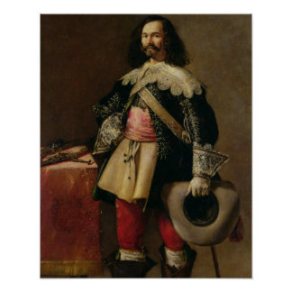 Don Tiburcio de Redin y Cruzat (óleo em canvas) Posteres