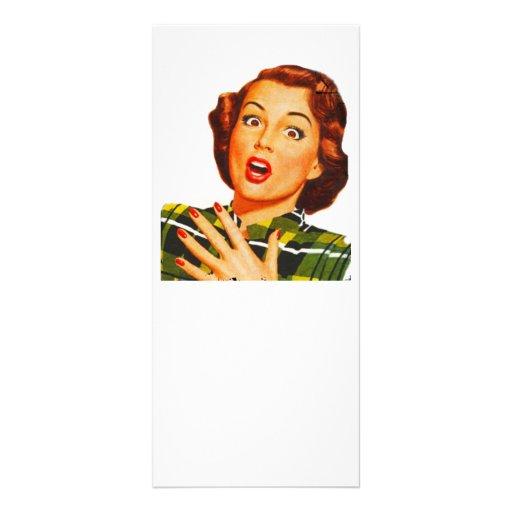 Dona de casa surpreendida retro panfletos informativos personalizados