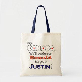 Donald de comércio para o bolsa de Justin