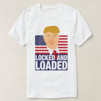 Donald Trump fechado e carregado Camiseta