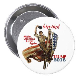 Donald Trump para o presidente 2016 Bóton Redondo 7.62cm