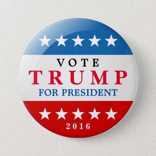 Donald Trump para o presidente campanha eleitoral Bóton Redondo 7.62cm