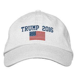 Donald Trump - presidente 2016 com bandeira Boné Bordado