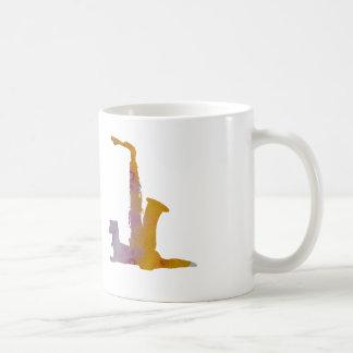 Doninha e saxofone caneca de café